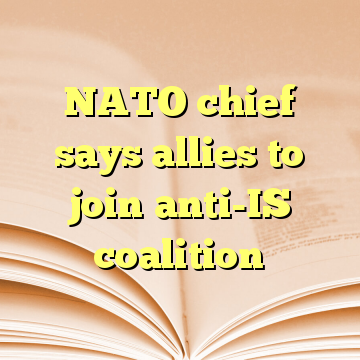 NATO chief says allies to join anti-IS coalition