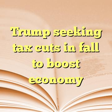 Trump seeking tax cuts in fall to boost economy