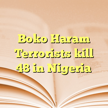 Boko Haram Terrorists kill 48 in Nigeria