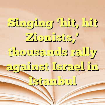 Singing 'hit, hit Zionists,' thousands rally against Israel in Istanbul