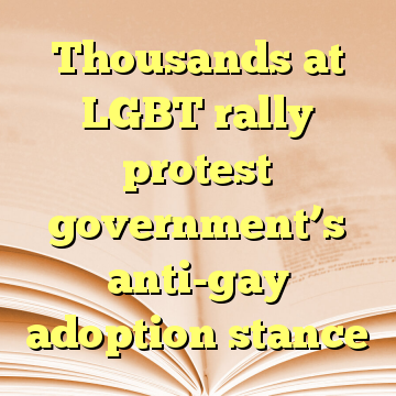 Thousands at LGBT rally protest government's anti-gay adoption stance
