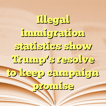 Illegal immigration statistics show Trump's resolve to keep campaign promise