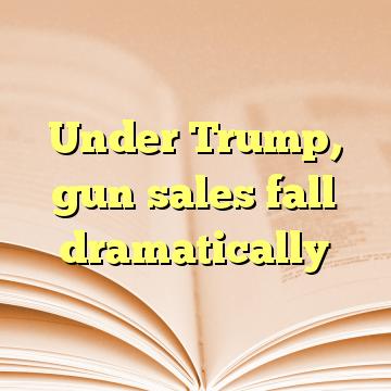 Under Trump, gun sales fall dramatically