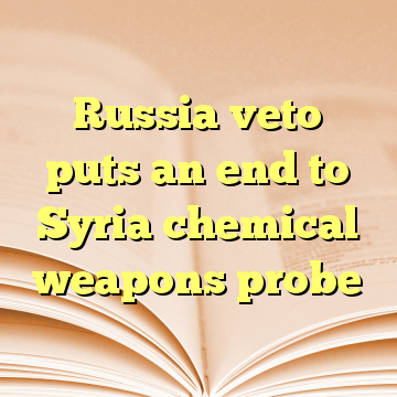 Russia veto puts an end to Syria chemical weapons probe