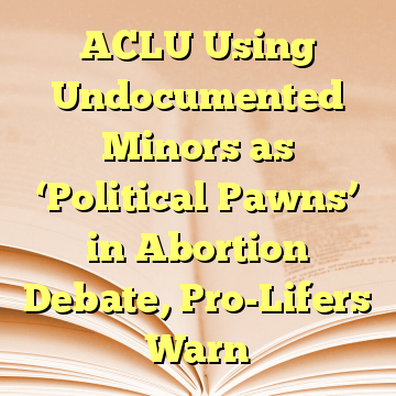 ACLU Using Undocumented Minors as 'Political Pawns' in Abortion Debate, Pro-Lifers Warn