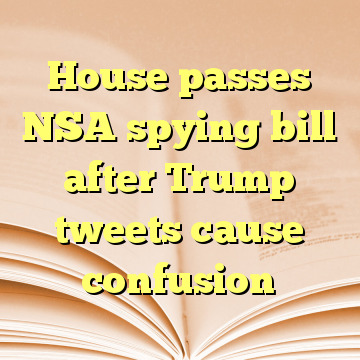 House passes NSA spying bill after Trump tweets cause confusion