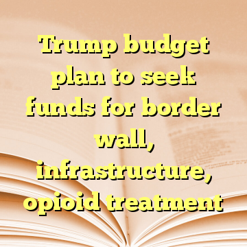 Trump budget plan to seek funds for border wall, infrastructure, opioid treatment