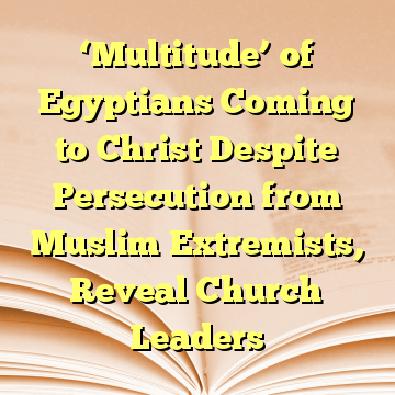 'Multitude' of Egyptians Coming to Christ Despite Persecution from Muslim Extremists, Reveal Church Leaders