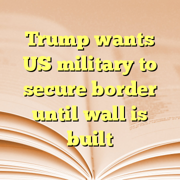 Trump wants US military to secure border until wall is built